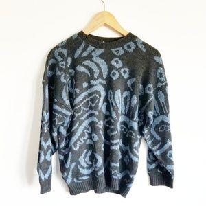 Vintage Grandpa sweater with metallic flecks